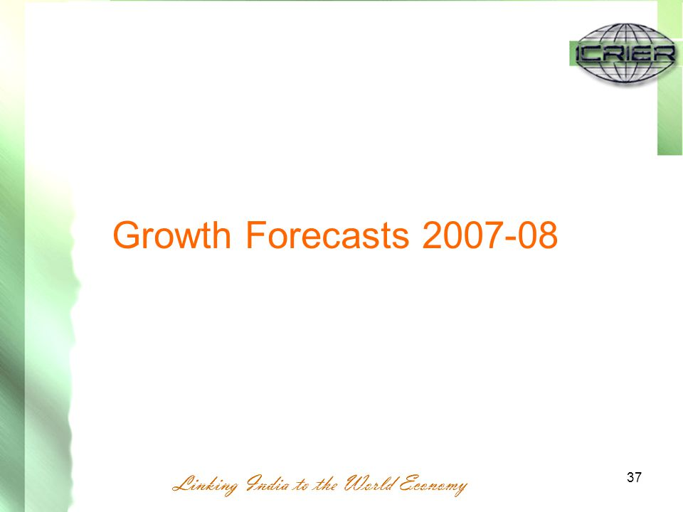 37 Growth Forecasts 2007-08