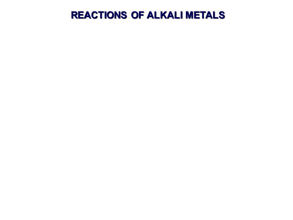 REACTIONS OF ALKALI METALS