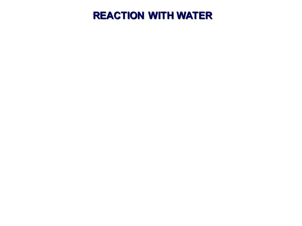 REACTION WITH WATER
