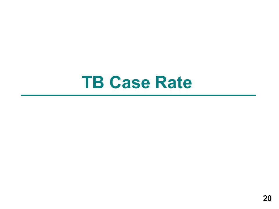 20 TB Case Rate