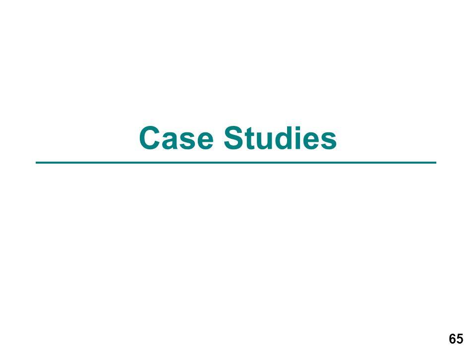 65 Case Studies