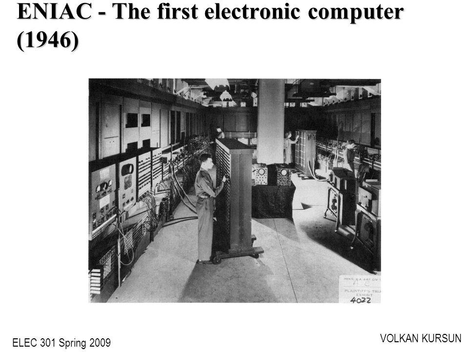 ELEC 301 Spring 2009 VOLKAN KURSUN ENIAC - The first electronic computer (1946)