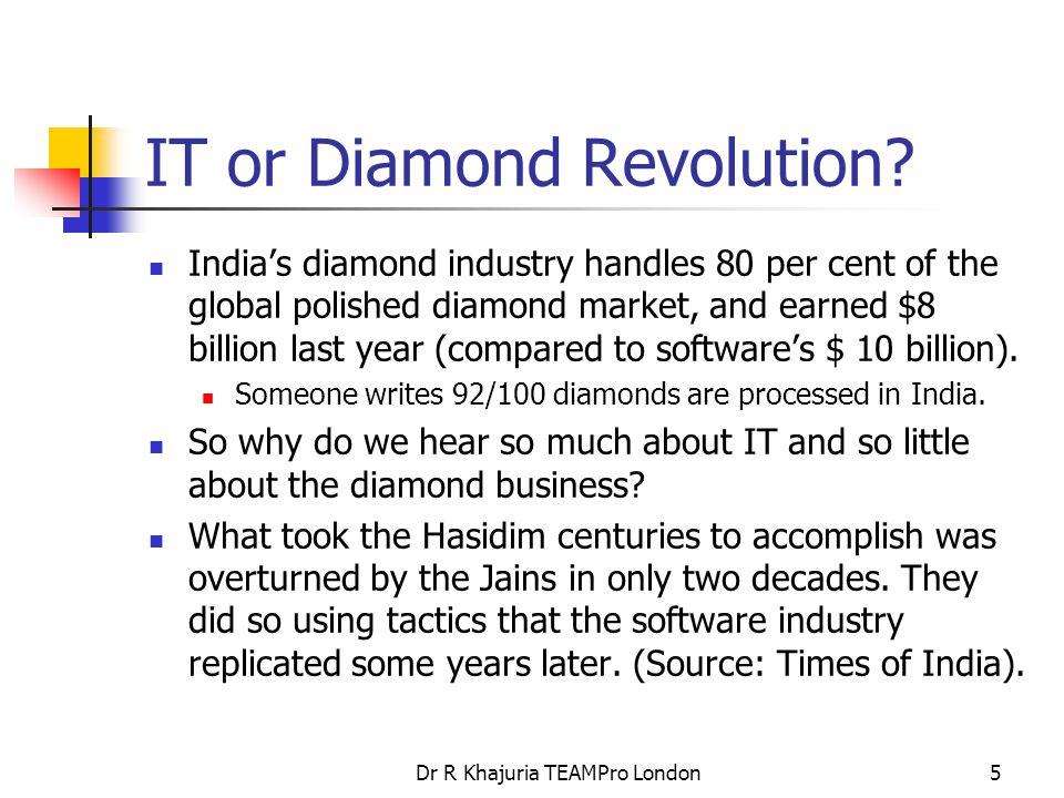 Dr R Khajuria TEAMPro London5 IT or Diamond Revolution.