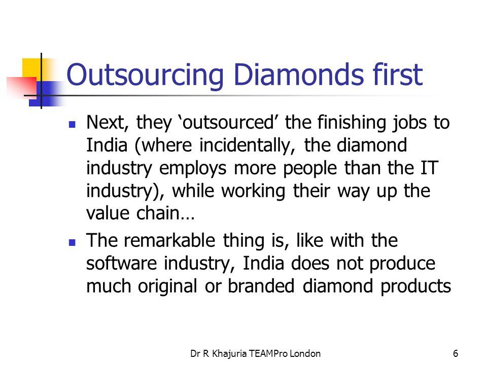 Dr R Khajuria TEAMPro London37 Diamond industry sparkles in China.