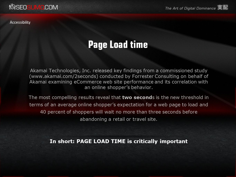 Page Load time Akamai Technologies, Inc.