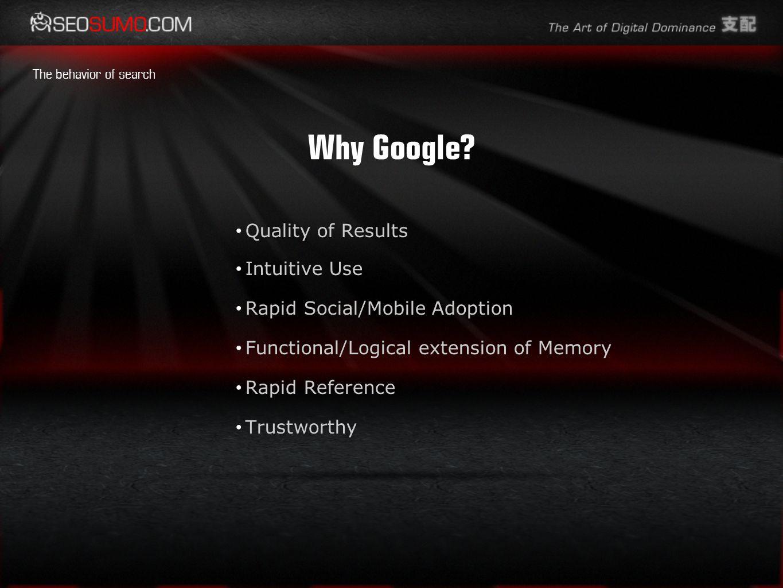 Why Google.