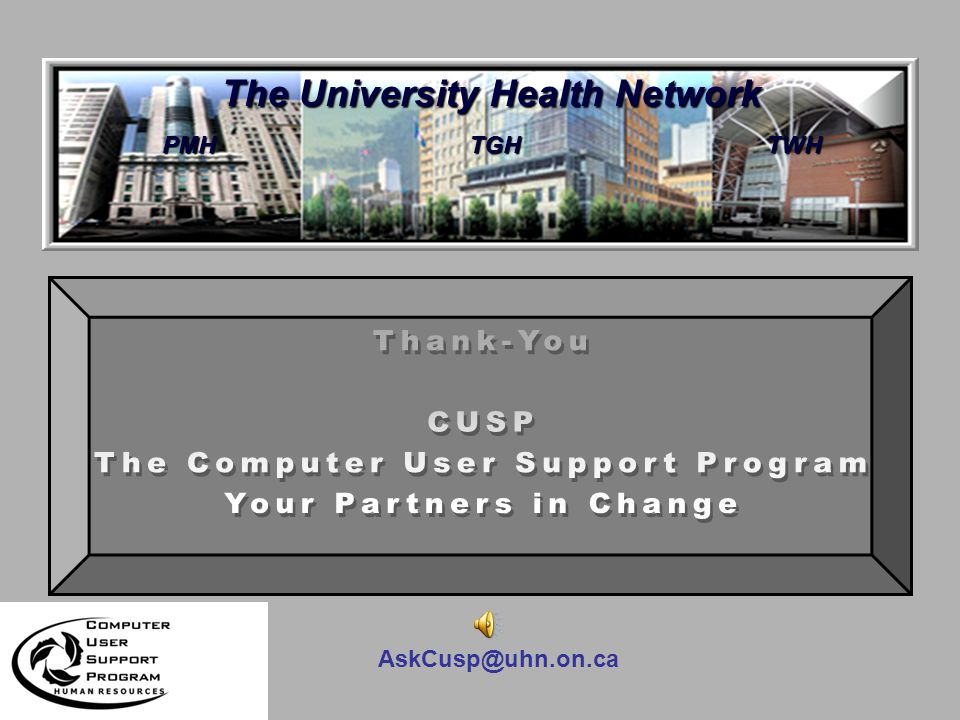 AskCusp@uhn.on.ca How Can We Help.