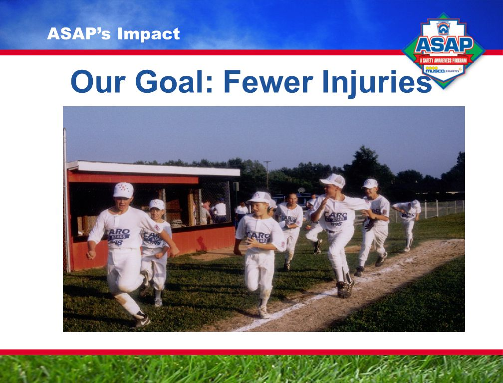 Our Goal: Fewer Injuries