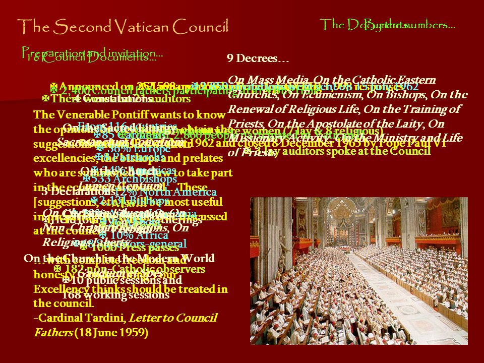 Characteristics of Vatican II Our duty is not only to guard this precious treasure, as if we were concerned only with antiquity, but to dedicate ourselves with an earnest will and without fear to that work which our era demands of us, pursuing thus the path which the Church has followed for twenty centuries.