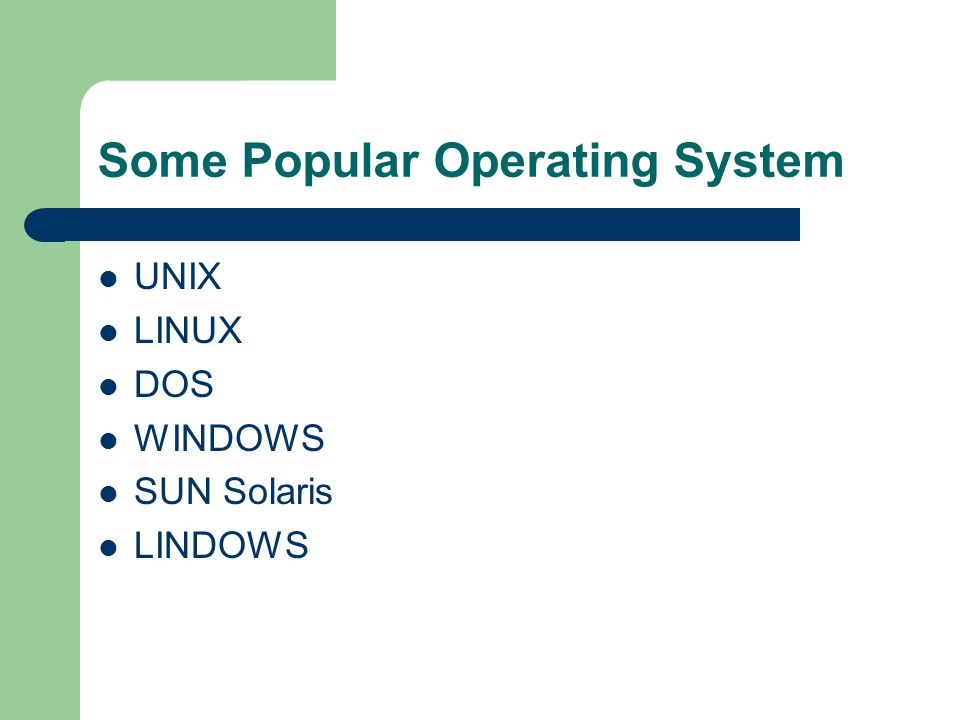Architecture Operating System