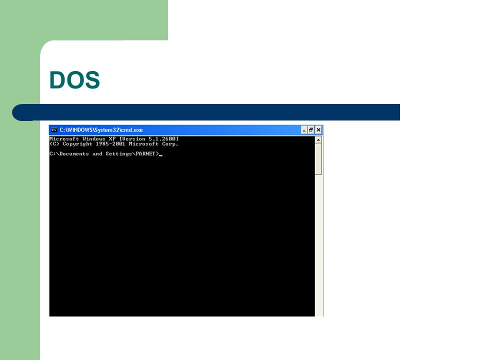 DOS single-tasking, single-processing, single- user, unprotected with no built-in support for graphics or networking