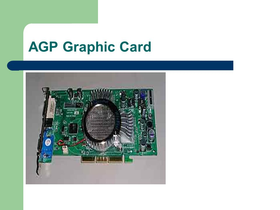 Graphic Card  Graphics card - This translates image data from the computer into a format that can be displayed by the monitor.