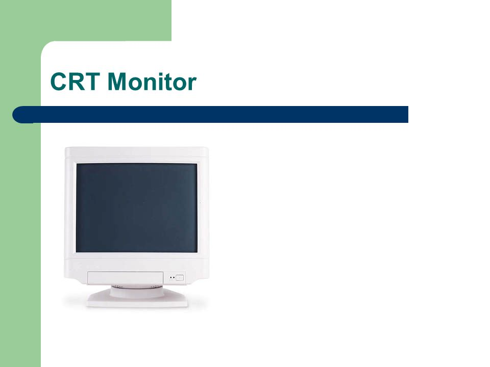 Input/Output  Monitor - The monitor is the primary device for displaying information from the computer.monitor