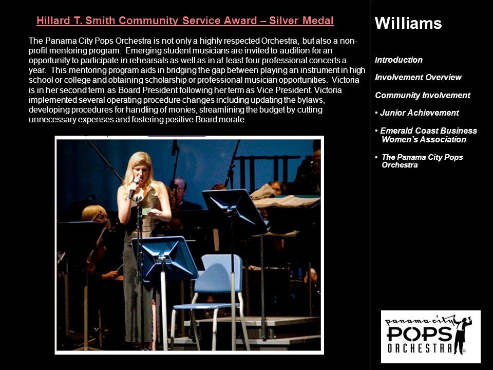 I ntroduction Involvement Overview Community Involvement Junior Achievement Emerald Coast Business Women's Association The Panama City Pops Orchestra