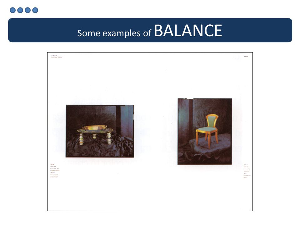 Some examples of BALANCE