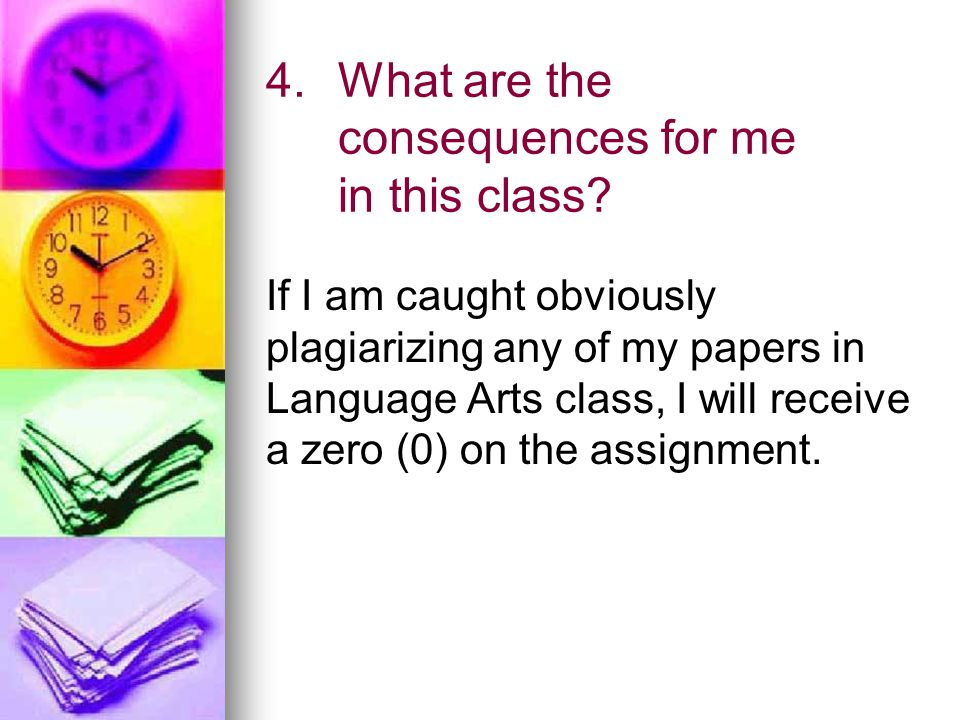 4.What are the consequences for me in this class.