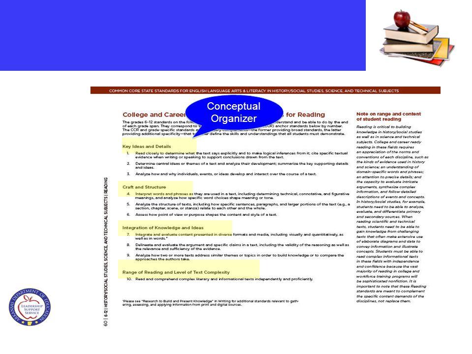Strand Code Strand Conceptual Organizer Standard