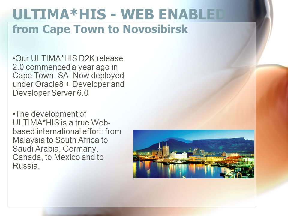 ULTIMA*HIS - WEB ENABLED -  2004-2010 ITC Software All rights reserved. ITC Software