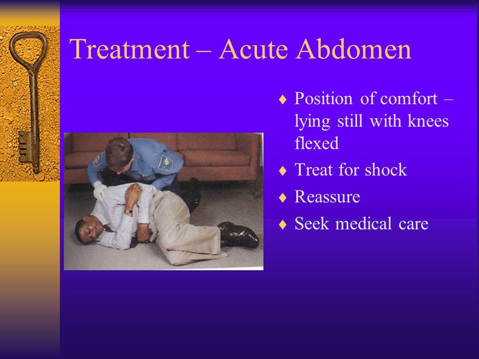 Examples of Acute Abdomen  Appendicitis  Cholecystitis  Bleeding ulcer  Pancreatitis  Pelvic Inflammatory Disease (PID)  Kidney stone