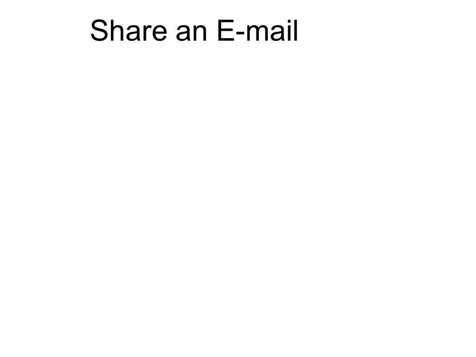 Share an E-mail