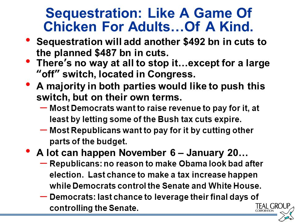Sequestration: Like A Game Of Chicken For Adults…Of A Kind.