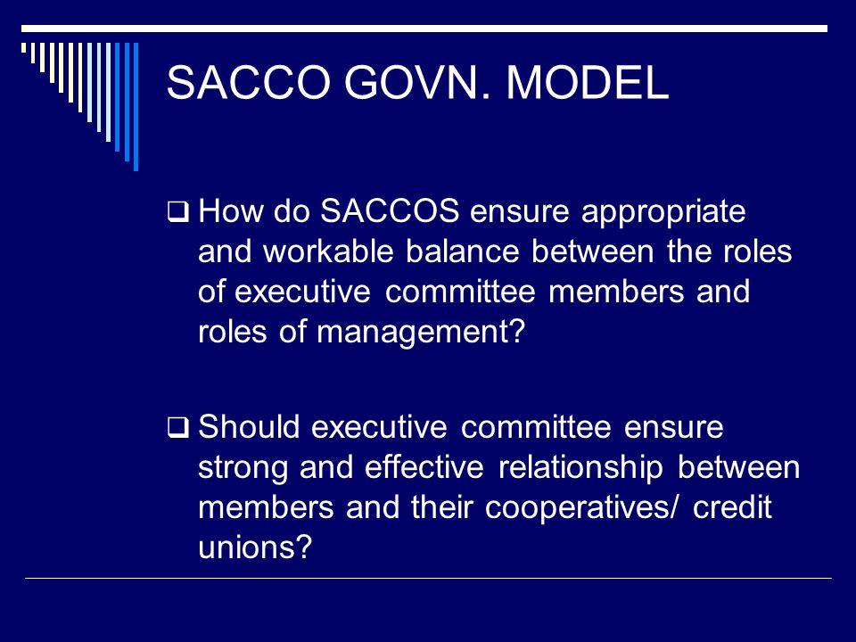 SACCO GOVN.