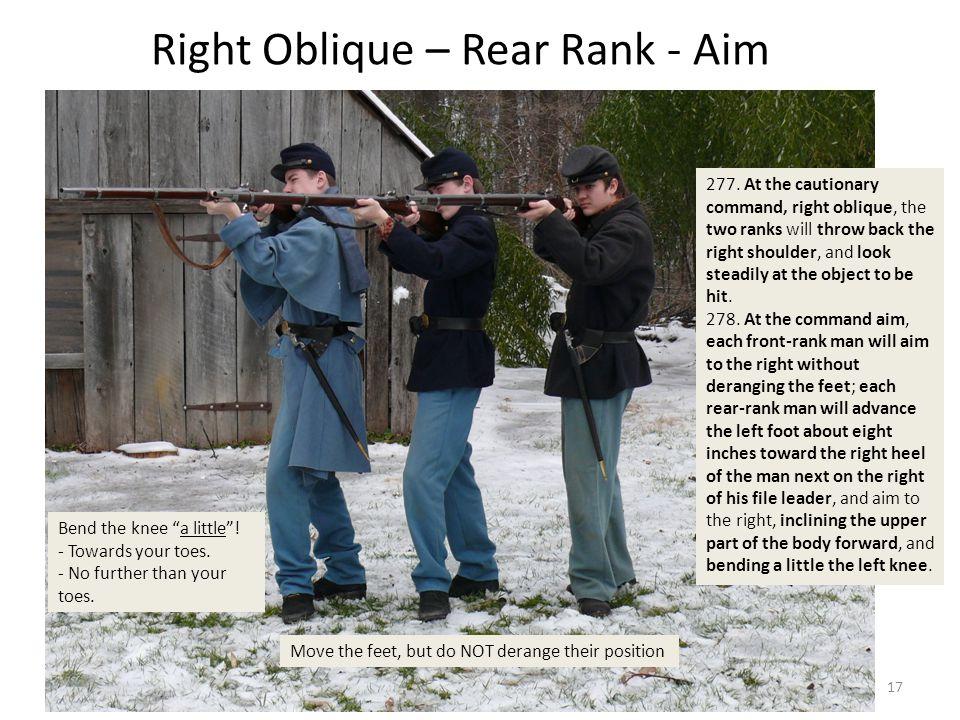 Right Oblique – Rear Rank - Aim 277.
