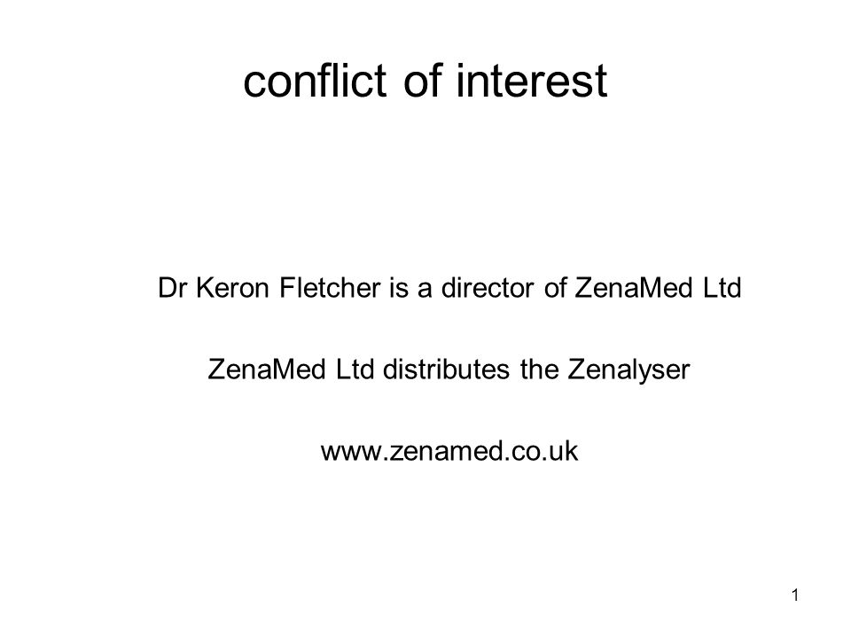 22 research study 2 –what is the sensitivity and specificity of the Zenalyser.