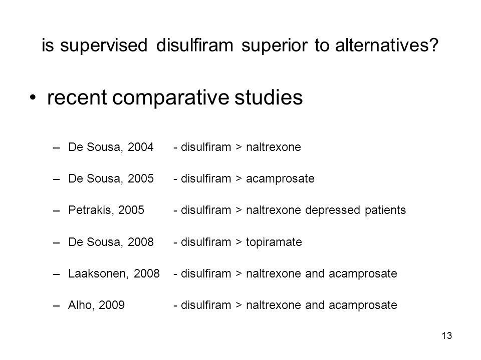 13 is supervised disulfiram superior to alternatives.