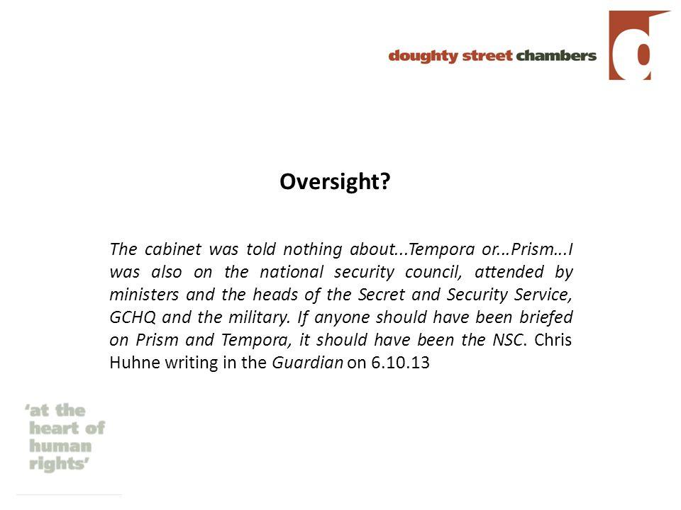 Oversight.