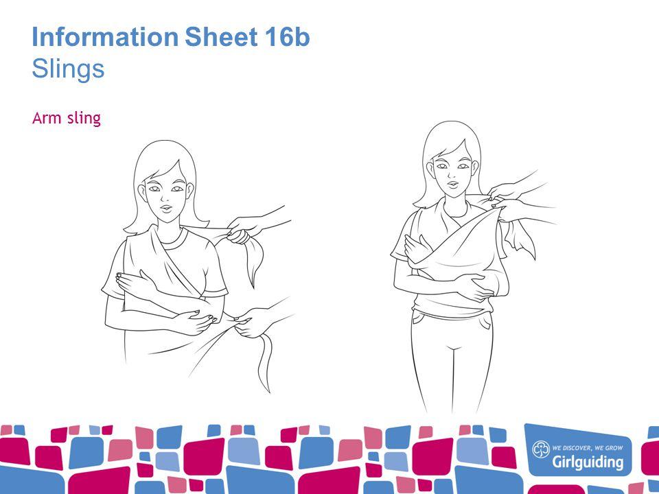 Information Sheet 16b Slings Arm sling