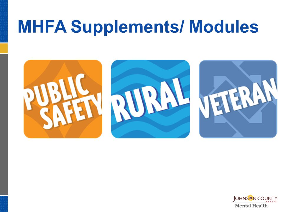 MHFA Supplements/ Modules
