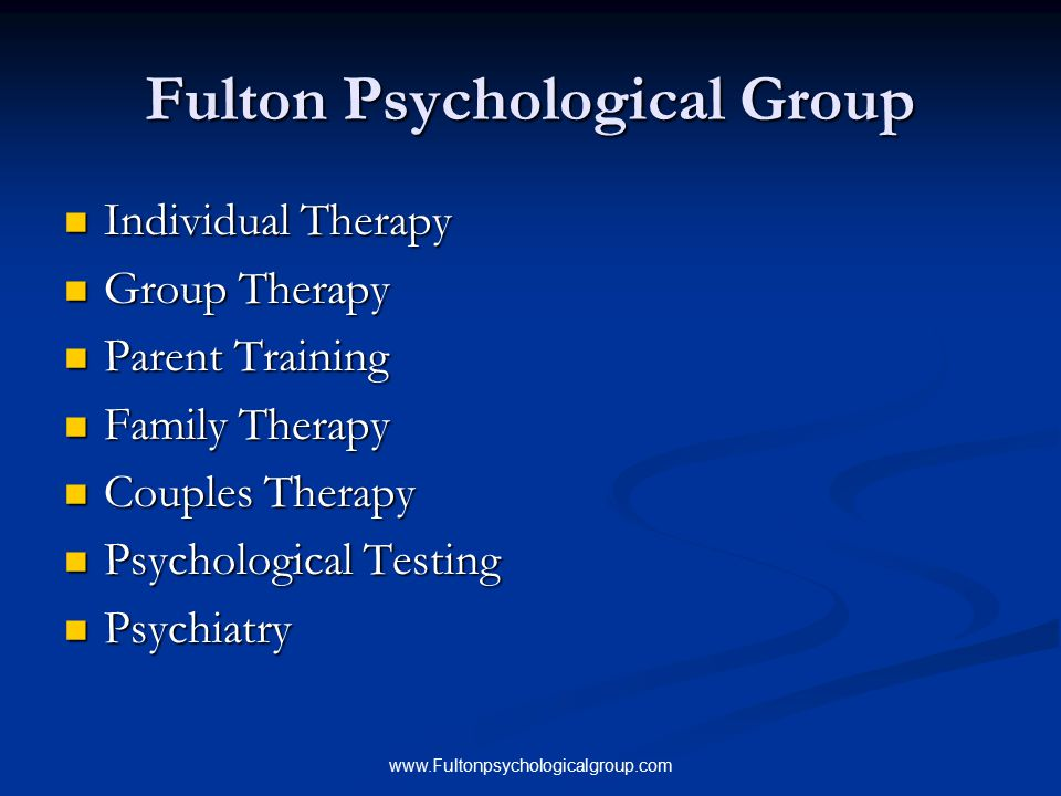 www.Fultonpsychologicalgroup.com Threats to Resilience Trauma Trauma Divorce Divorce Disability Disability Loss of a loved one or support system Loss of a loved one or support system Chronic stress Chronic stress Too much change Too much change