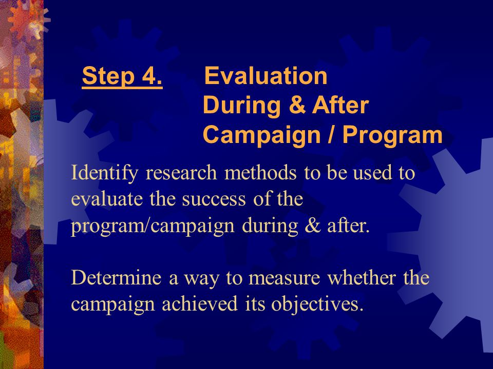 Example of PR Campaign using the 4-step Process Eastman Kodak Company 1994 Campaign Title of Campaign: Project WINGS – Imaging Back in Focus