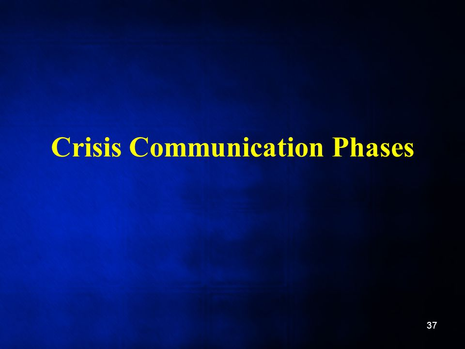 Crisis Communication Phases 37