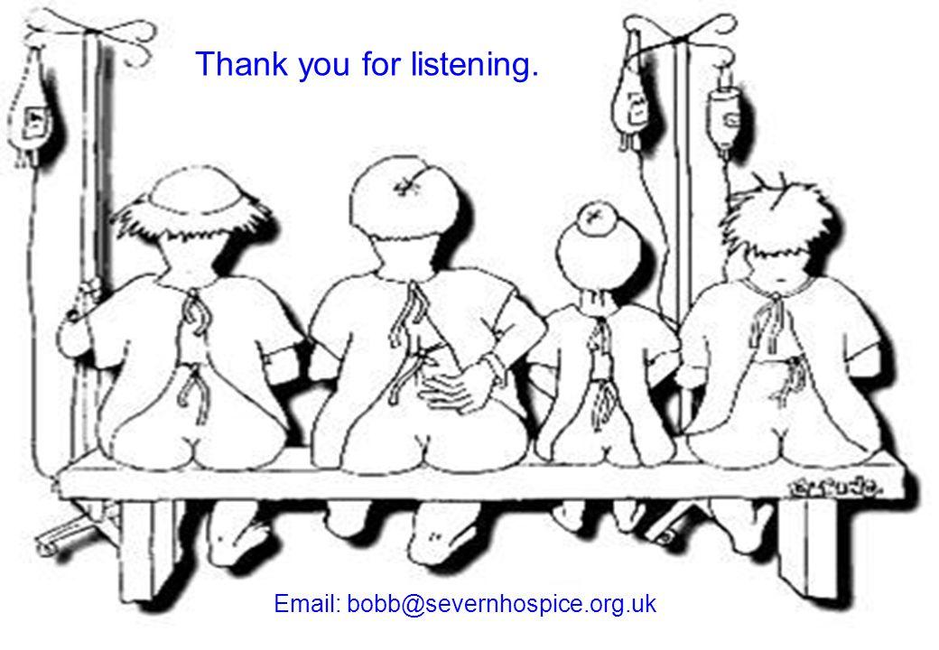 Thank you for listening. Email: bobb@severnhospice.org.uk