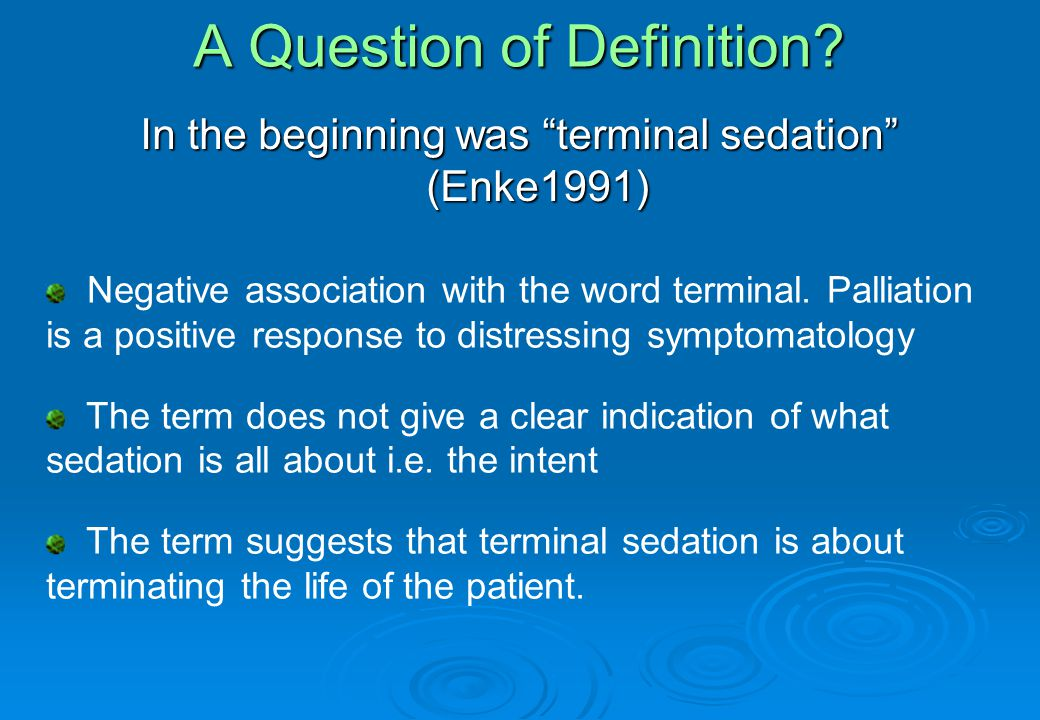 A Question of Definition.