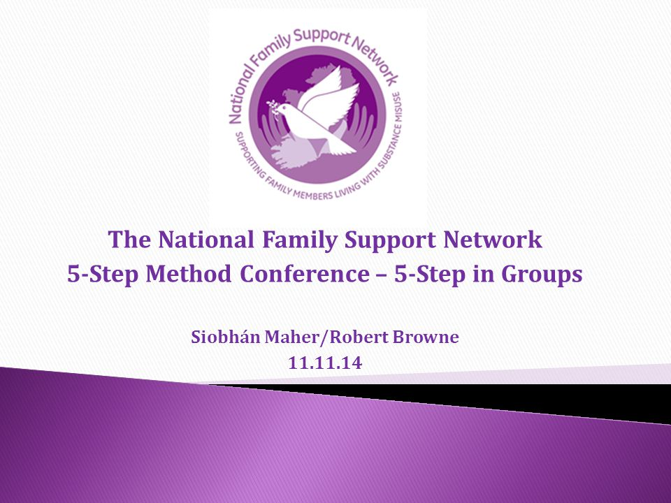 The National Family Support Network 5-Step Method Conference – 5-Step in Groups Siobhán Maher/Robert Browne 11.11.14