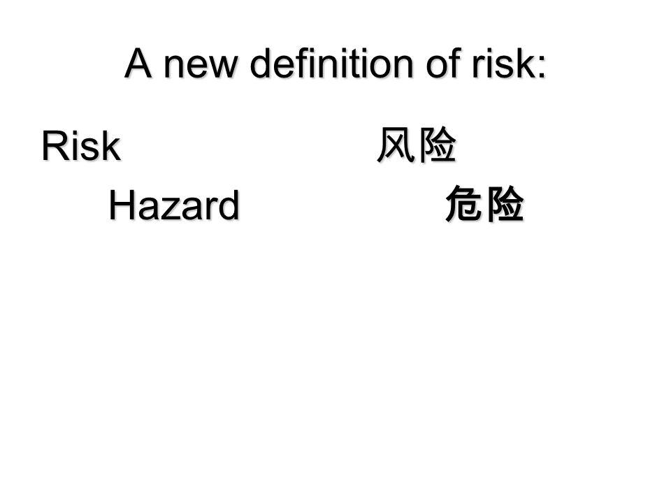 A new definition of risk: Risk 风险 Hazard 危险 Copyright 2006 Peter Sandman