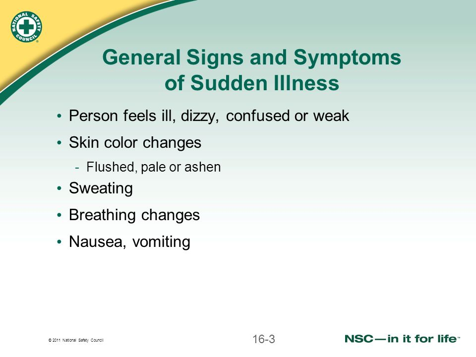 © 2011 National Safety Council Care for Altered Mental Status Do not assume person is intoxicated or using drugs -Diabetic emergencies can produce behavior similar to intoxication Altered mental status is often sign of deteriorating condition 16-24