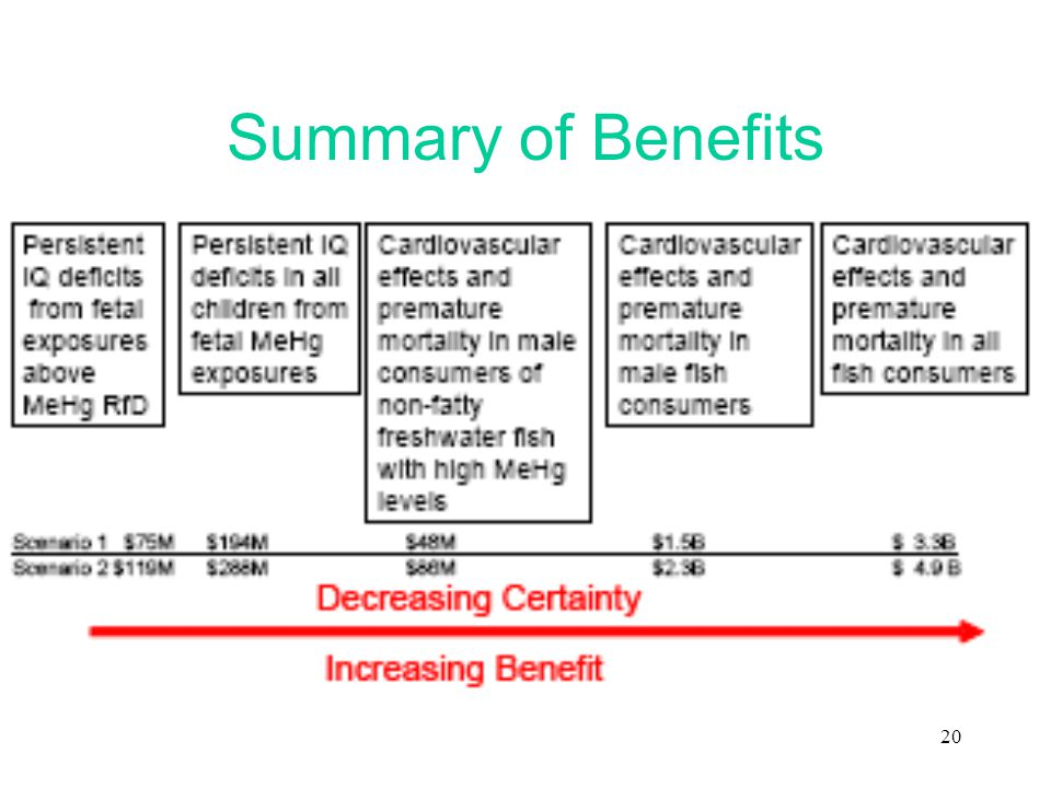 20 Summary of Benefits