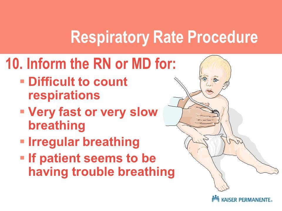 Respiratory Rate Procedure 10.