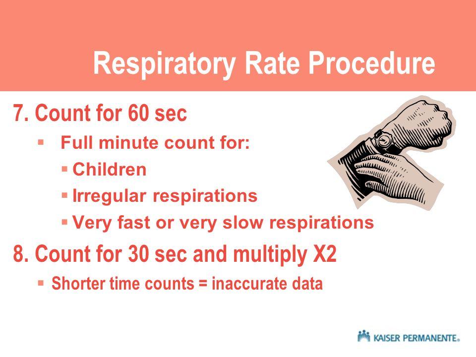 Respiratory Rate Procedure 7.