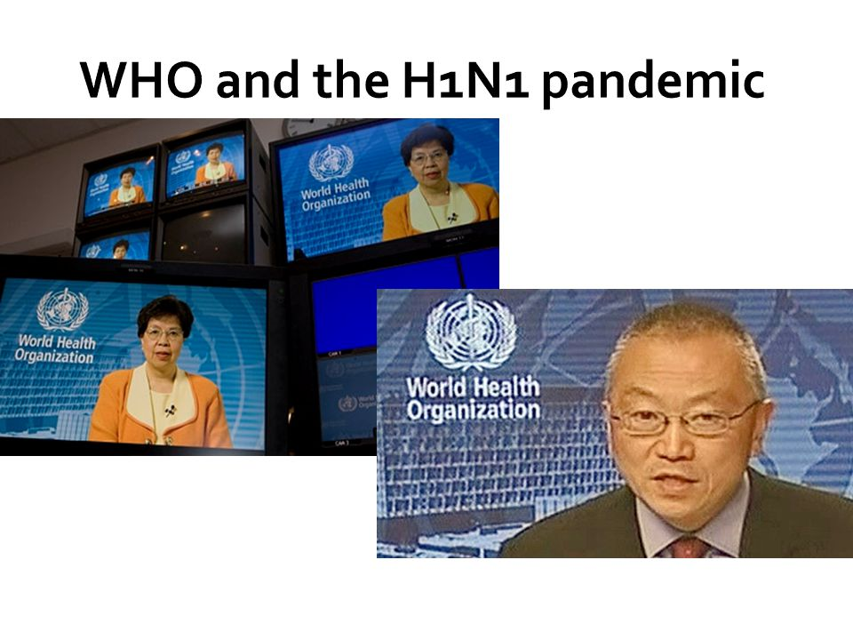 WHO and the H1N1 pandemic