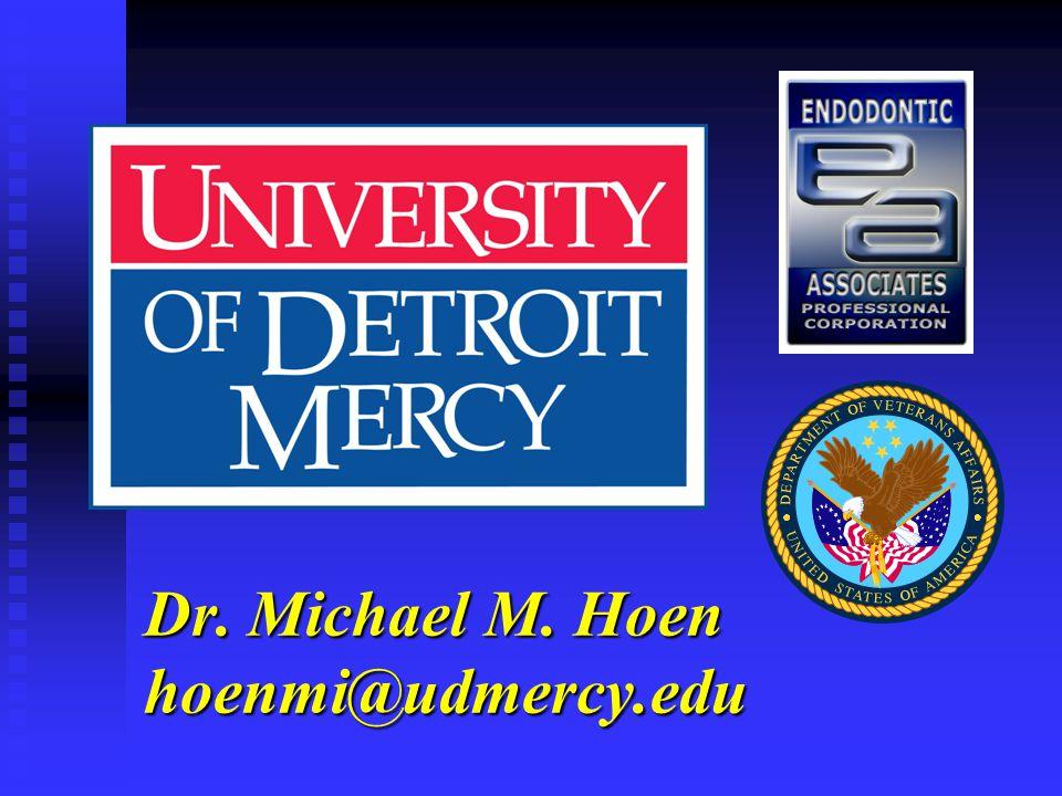 Dr. Michael M. Hoen hoenmi@udmercy.edu