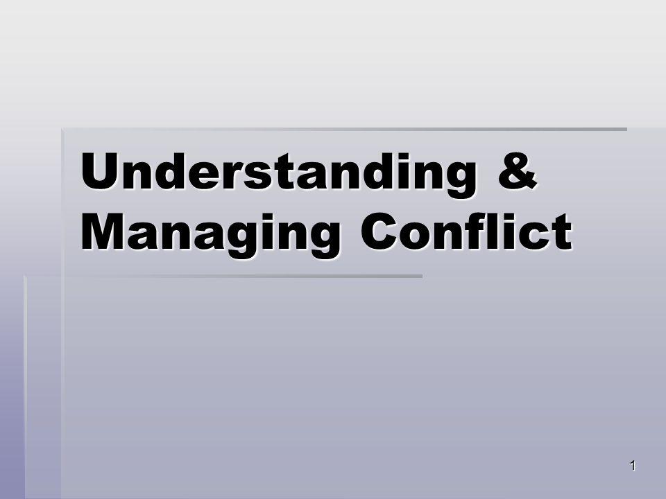 1 Understanding & Managing Conflict