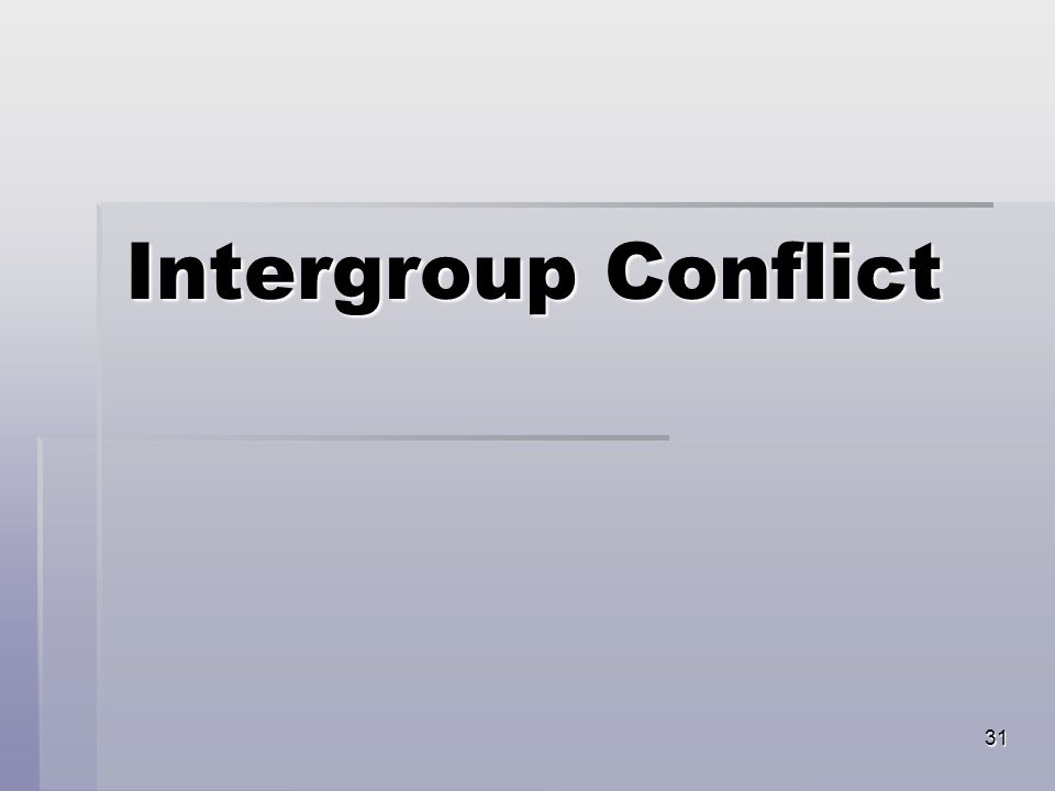 31 Intergroup Conflict