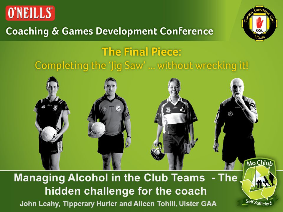 Awareness of Alcohol & Substance Use Among Players Starting to argue with referee during games Starting to give back chat when are given instructions during games Making excuses when missing training & games Being injured more regularly