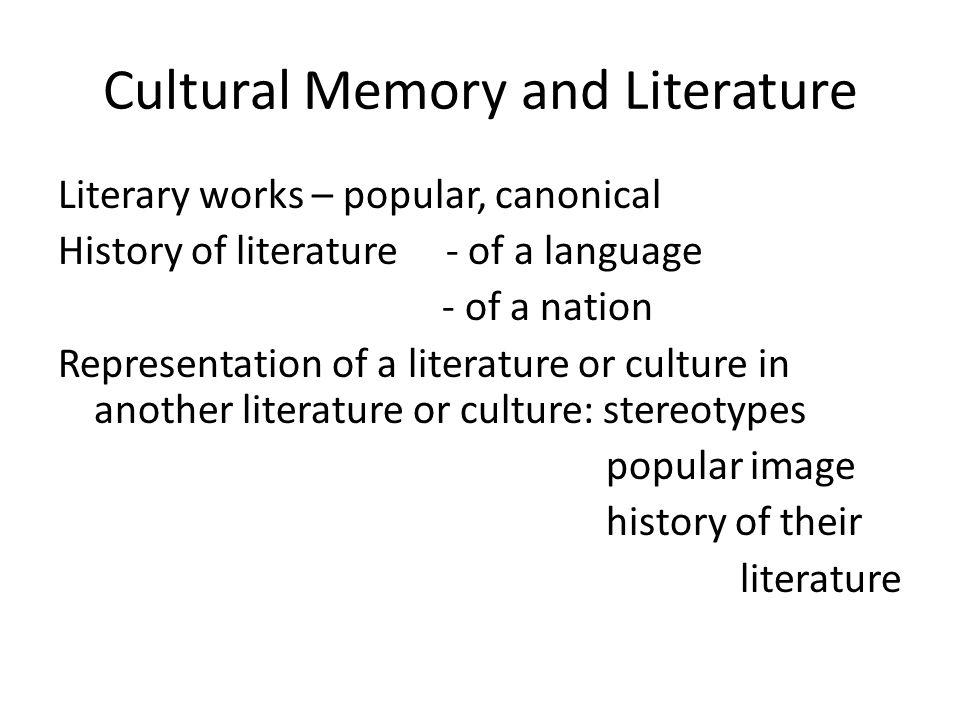 Cultural Memory at DES, SEAS British Literature in the Hungarian Cultural Memory project at the Department of English Studies, dir.