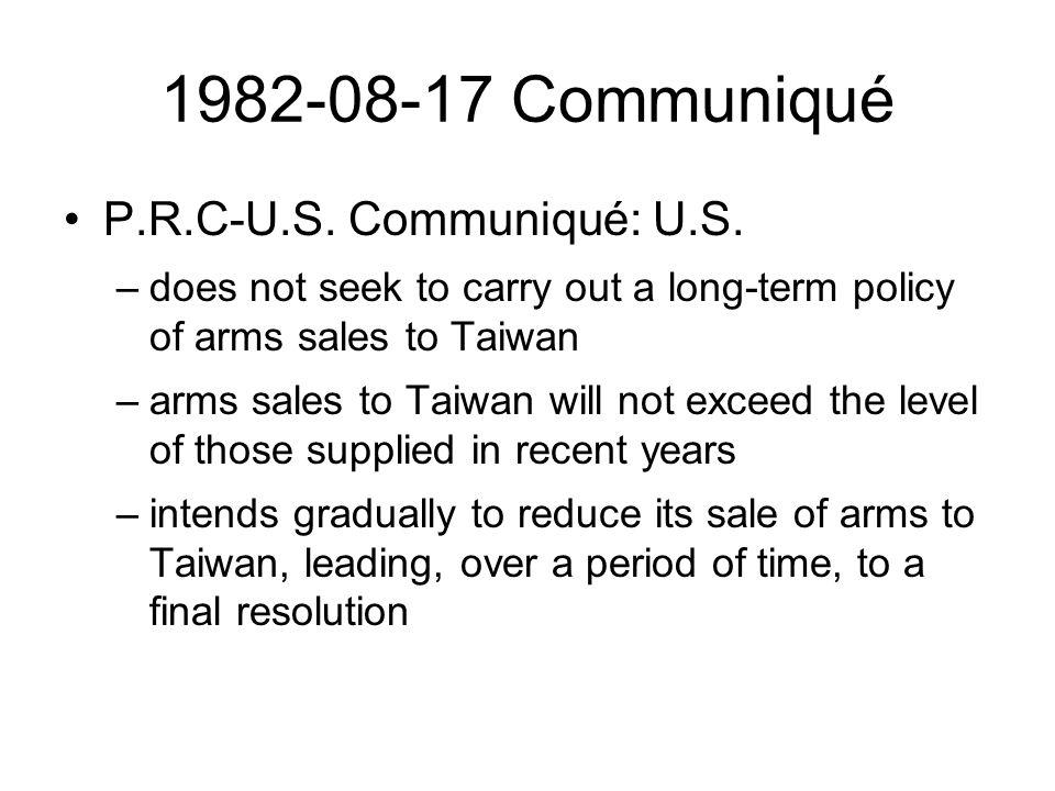 1982-08-17 Communiqué P.R.C-U.S.Communiqué: U.S.